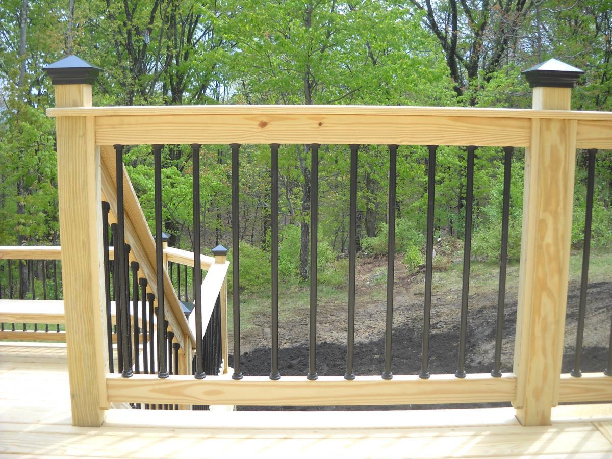 Metal Deck Spindles Over Pressure Treated Pine Deck